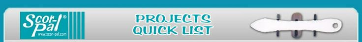 A treasure trove of Scor-Pal projects with easy-to-follow directions printed in PDF format.