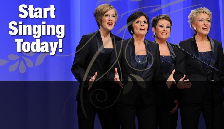 sweet adeline barbershop quartet singing