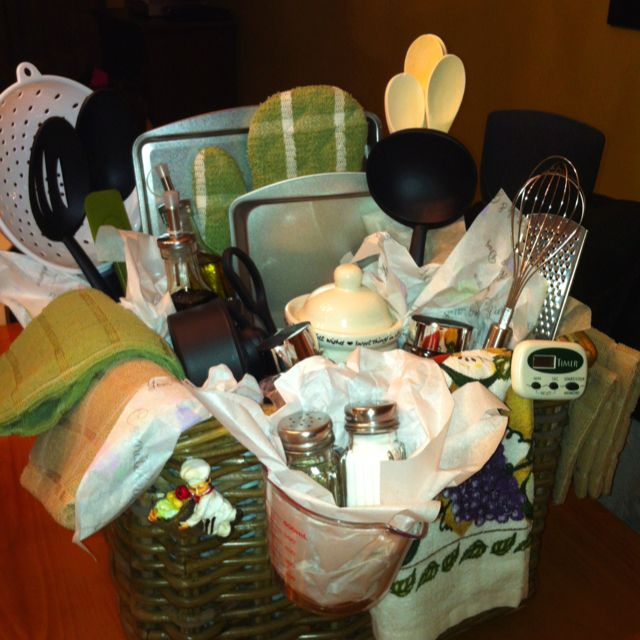 How To Make Wedding Gift Basket : Bridal shower gift basket for the kitchen party ideas/favors ...
