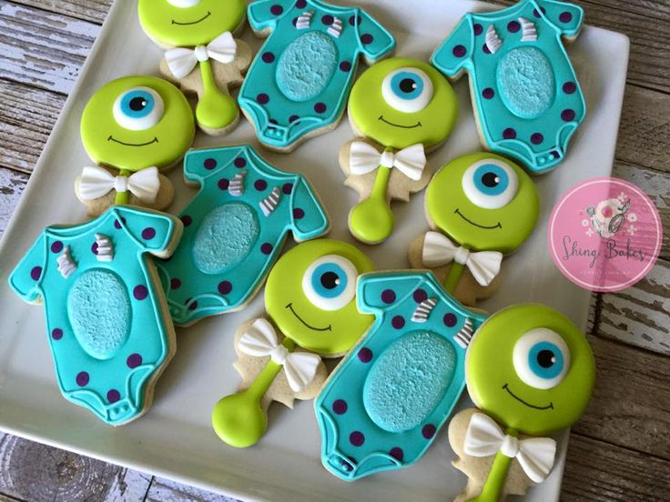 Shing Bakes - Monsters Inc inspired baby shower cookies! Designs...
