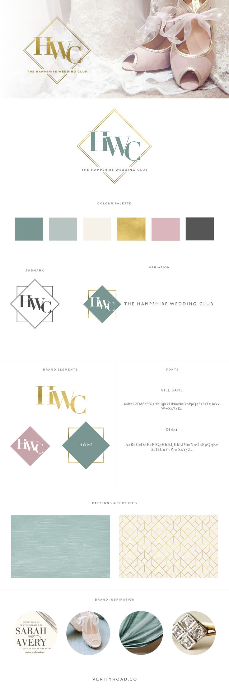 Brand Design - The Hampshire Wedding Club - Brand Style, Social Media Branding