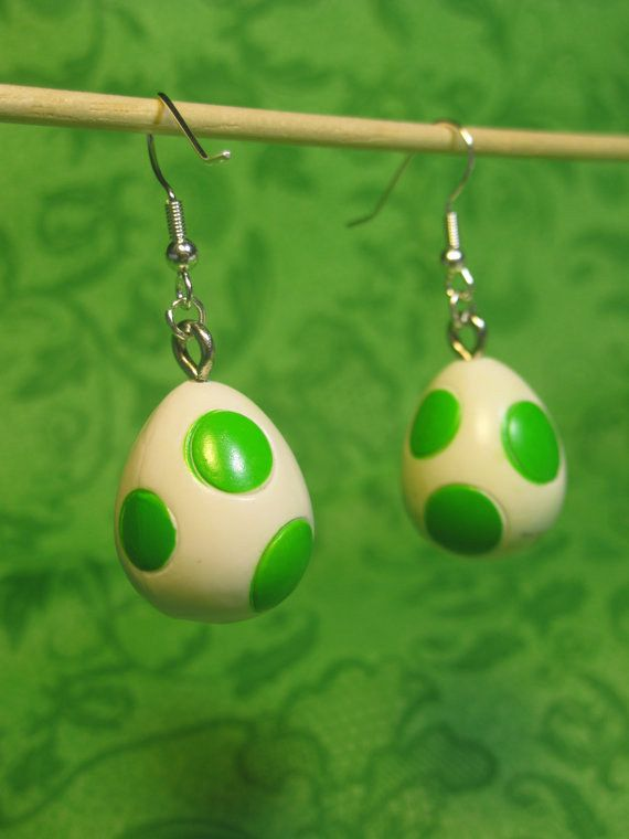 Super Mario Yoshi Egg Earrings | Community Post: 40 Pieces Of Jewelry Every Nerd Will Love