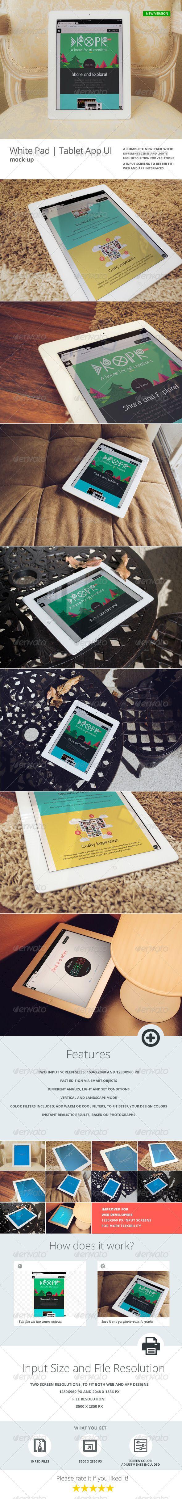 White Pad | Tablet App UI Mock-Up