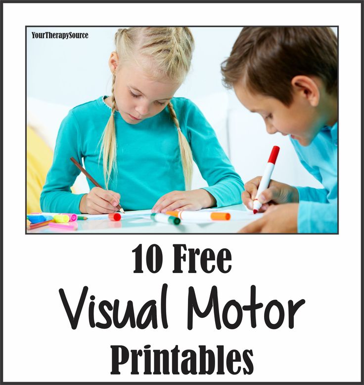 10 Visual Motor Freebies from www.YourTherapySource.com