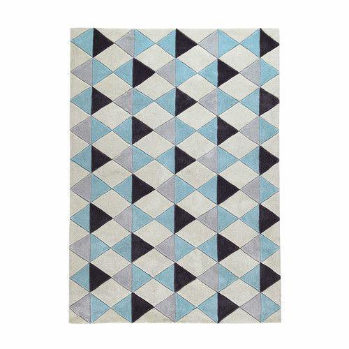 stoffteppich mehrfarbig 230 x 160 cm nordic - Jungenkinderzimmer
