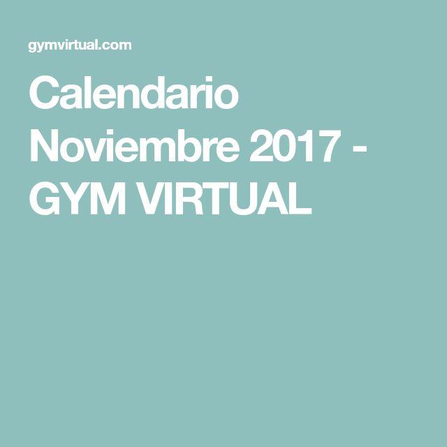 Calendario Noviembre 2017 - GYM VIRTUAL