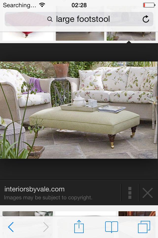 Extra large footstool