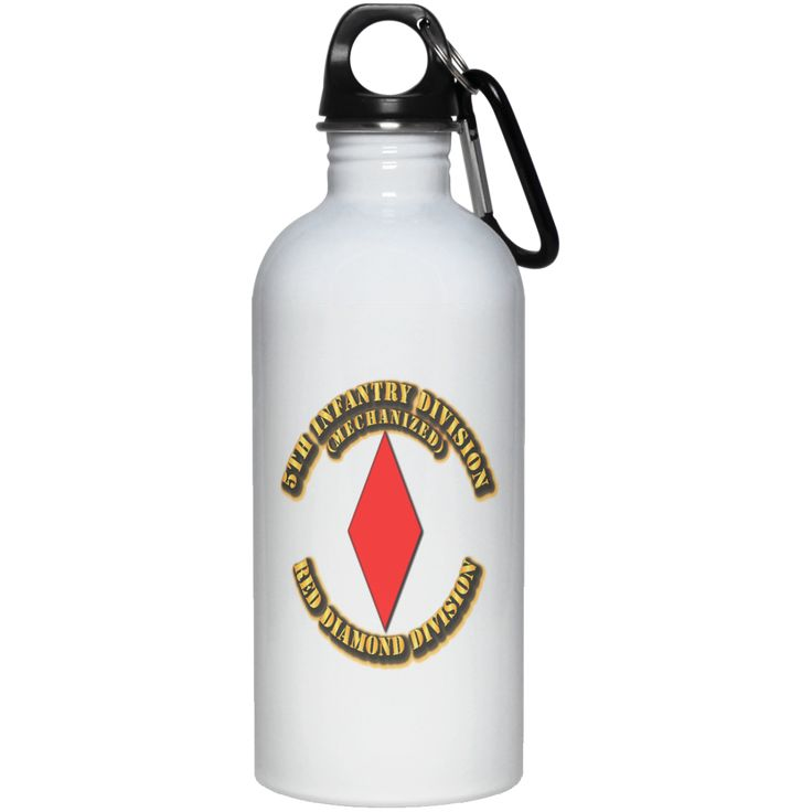 5TH INFANTRY DIVISION RED DIAMOND DIVISION BY TWIX123844 23663 20 oz. Stainless Steel Water Bottle
