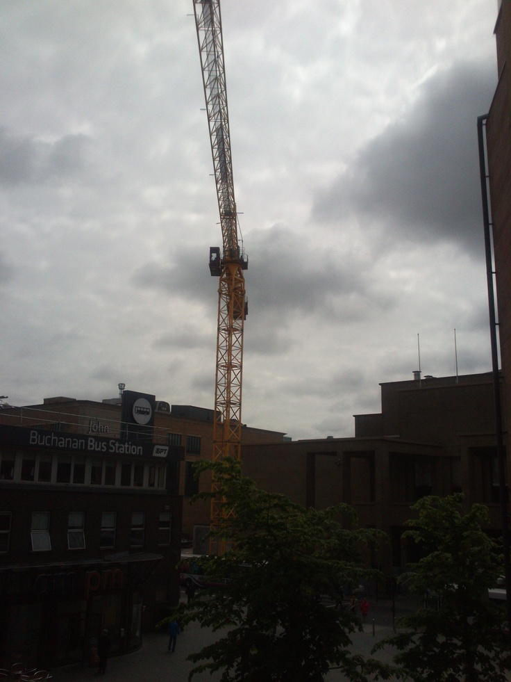 04.06.13 - The crane has arrived on site, so now the exciting work really starts to get going. The structure will be going up in no time - let the countdown commence! #construction #cranespotting #NewHome #building