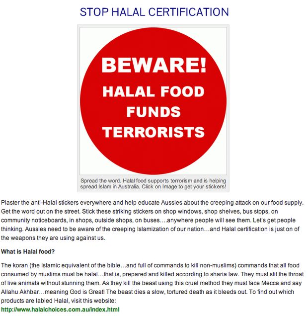 """AUSTRALIA: Melany Dairies says """"NO"""" to barbaric halal certification industry 11/07/14"""
