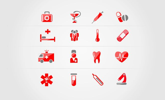 Medical Icons PSD - Web Design Hood