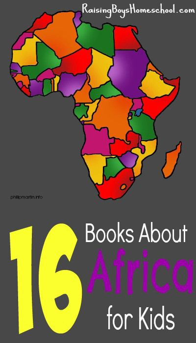 16 Books about Africa for Kids! Great for geography studies, Black History, or African History/stories! www.RaisingBoysHomeschool.com