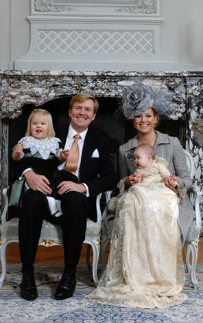 An official portrait of the Dutch royal family on the day of Princess Alexia's christening ~ November 19, 2012
