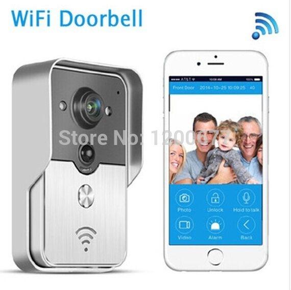 120.00$  Watch now - http://alifjp.worldwells.pw/go.php?t=32392706966 - Wifi door camera peephole video intercom PIR Alarm Waterproof Intercom IR Night vision video eye door viewer for iOS Android 120.00$