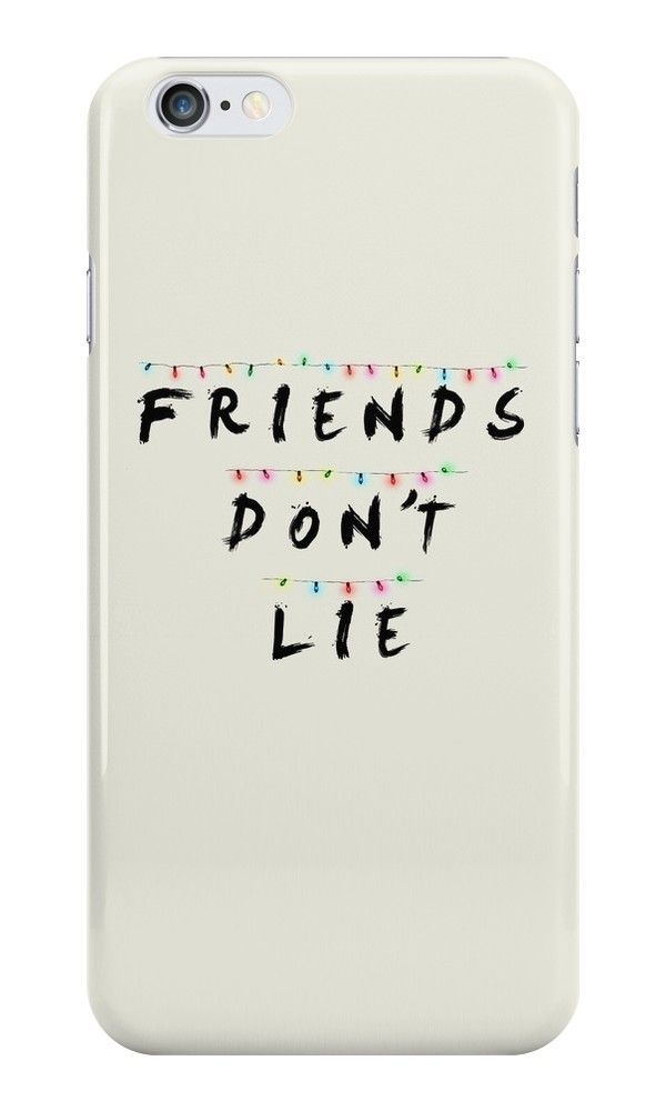 Our Friends Don't Lie Lights - Stranger Things Phone Case is available online now for just £6.99. Fan of Stranger Things? You'll love our Friends Don't Lie Lights - Stranger Things phone case, available for iPhone, iPod & Samsung models. Weight: 28g, Material: Plastic, Production Method: Printed, Authenticity: Unofficial, Thickness: 12mm, Colour Sides: Clear, Compatible With: iPhone 4/4s | iPhone 5/5s/SE | iPhone 5c | iPhone 6/6s | iPhone 7 | iPod 4th/5th Generation | Galaxy S4 | Galax