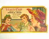 Vintage Vanity Fair Rust Proof Needle Book