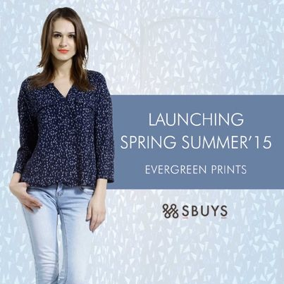 Launching #Spring #Summer '15 Ever Green #Prints www.sbuys.in #women #tops #fashion