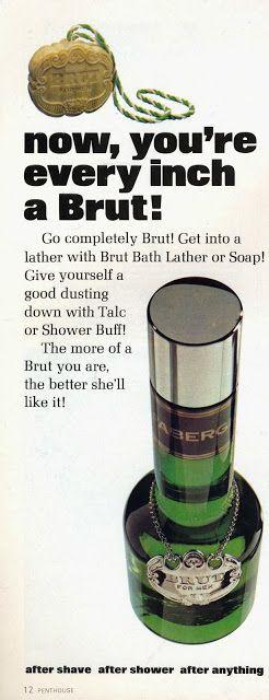 Brut aftershave