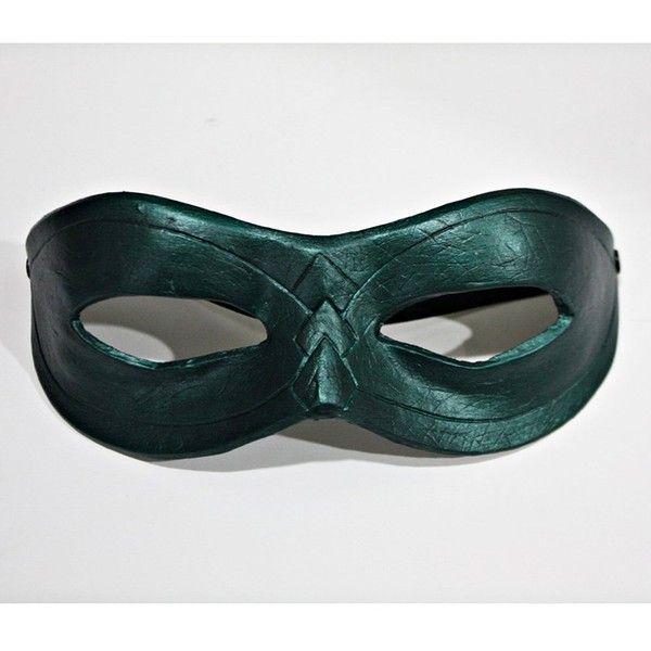 1:1 Custom Halloween Costume Cosplay Latex Batman Green Arrow Mask... (68 AUD) ❤ liked on Polyvore featuring costumes, green costume, latex halloween costumes, latex costume, green halloween costumes and role play costumes