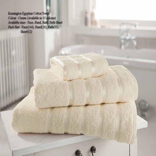 Kensington Egyptian Cream Hand Towel Bath Towel &Bath Sheets – Linen and Bedding