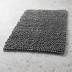 cirrus grey bath mat More colors of similar design at Crate & Barrel