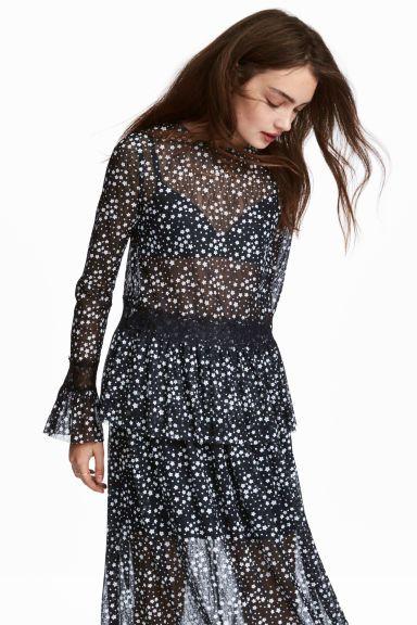 81557630647d1 Flounced lace top - Dark blue/Stars - Ladies | H&M 1 | ZARA WINTER ...