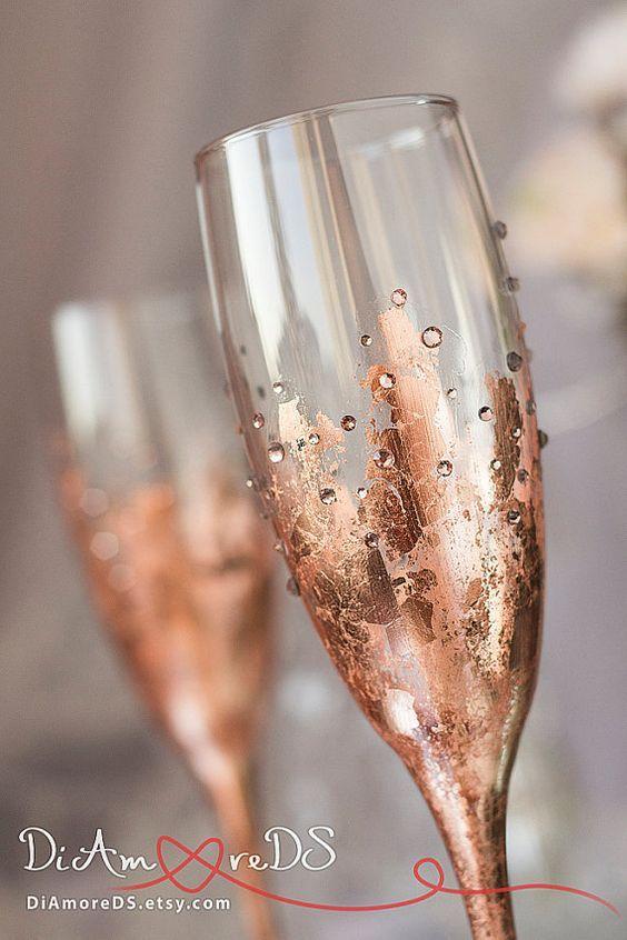 Best 25 copas decoradas para novios ideas on pinterest for Copas de champagne