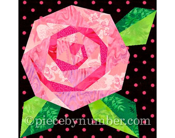 Paper piecing breast cancer pin