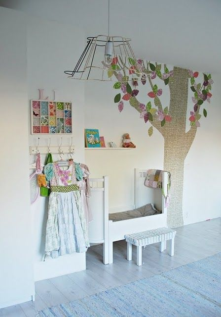 This link is to TONS of pretty little-girl bedrooms. Too many for my brain to sort through at the moment....