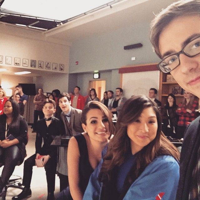 """Last rehearsal for our last scene. #LastNightOfGlee"""