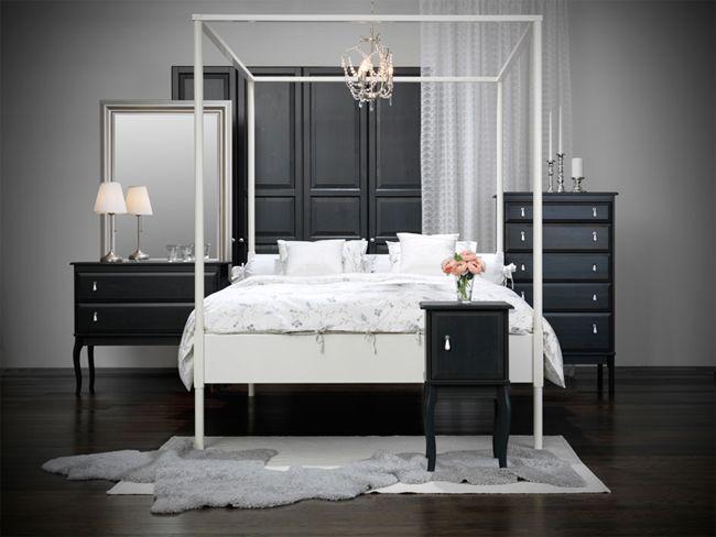 Łóżko z baldachimem - Ikea, fot. mat. pras.