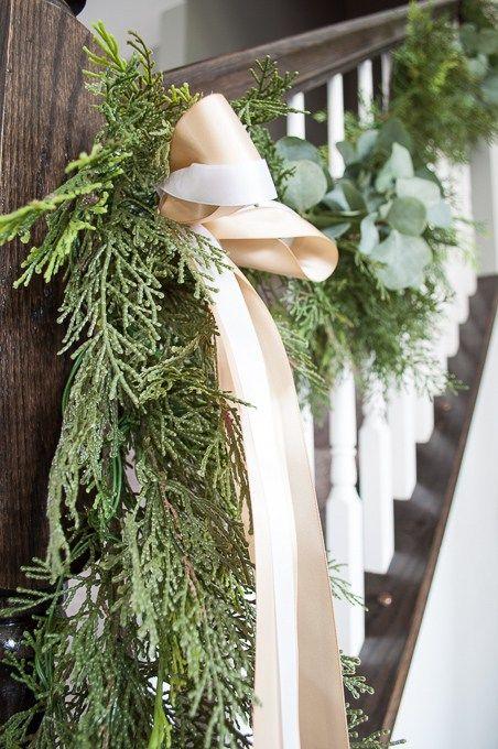 Pine And Eucalyptus Christmas Garland Mantel Christmas Pine