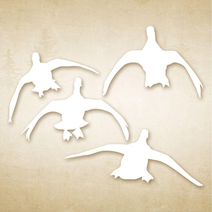 Autocollant chasse Canards à la pose :  Un sticker pour afficher fièrement notre passion de la chasse !  Autocollant canard blanc sur fond transparent : chaque canard est positionnable individuellement. http://www.cote-chasse.com/accessoires/autocollants/autocollant-chasse-canards-a-la-pose.html