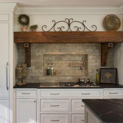 Wood Beam Range Hood Kitchen Bath Remodeling Kitchen
