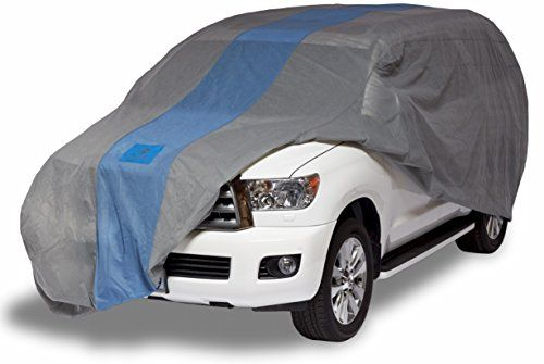 "Duck Covers A1SUV210 Defender SUV Cover for SUVs/Pickup Trucks with Shell or Bed Cap up to 17' 5"". For product info go to:  https://www.caraccessoriesonlinemarket.com/duck-covers-a1suv210-defender-suv-cover-for-suvspickup-trucks-with-shell-or-bed-cap-up-to-17-5/"
