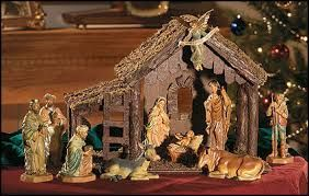 Christmas Nativity Scene..one correction to it though..the wise men would be moved farther away from the nativity scene, for they did not come until Jesus was two or three years old.