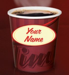 Personalize Your Cup with Tim Hortons  http://womenfreebies.ca/facebook/tim-hortons-personalized-cup/