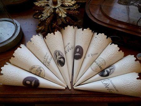 Beautiful cones via Baucis & Philemon Blog!