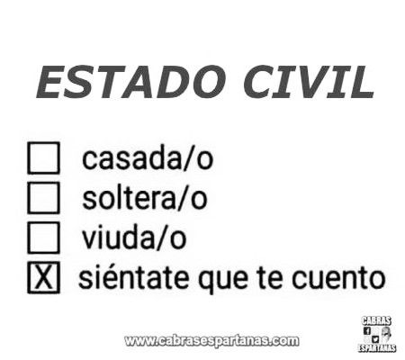Estado civil siéntate que te cuento
