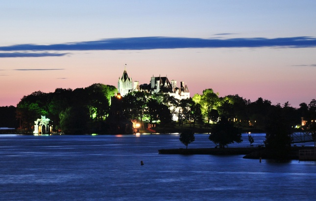 Boldt Castle in the Thousand Islands. Get there by boat with the Gananoque Boat Line. http://www.1000islandstourism.com/listings/gananoque-boat-line/