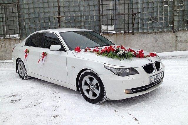 Белая BMW 520i http://paramoloda.ua/belaya-bmw-520i-ukrasyt-vashu-svadbu