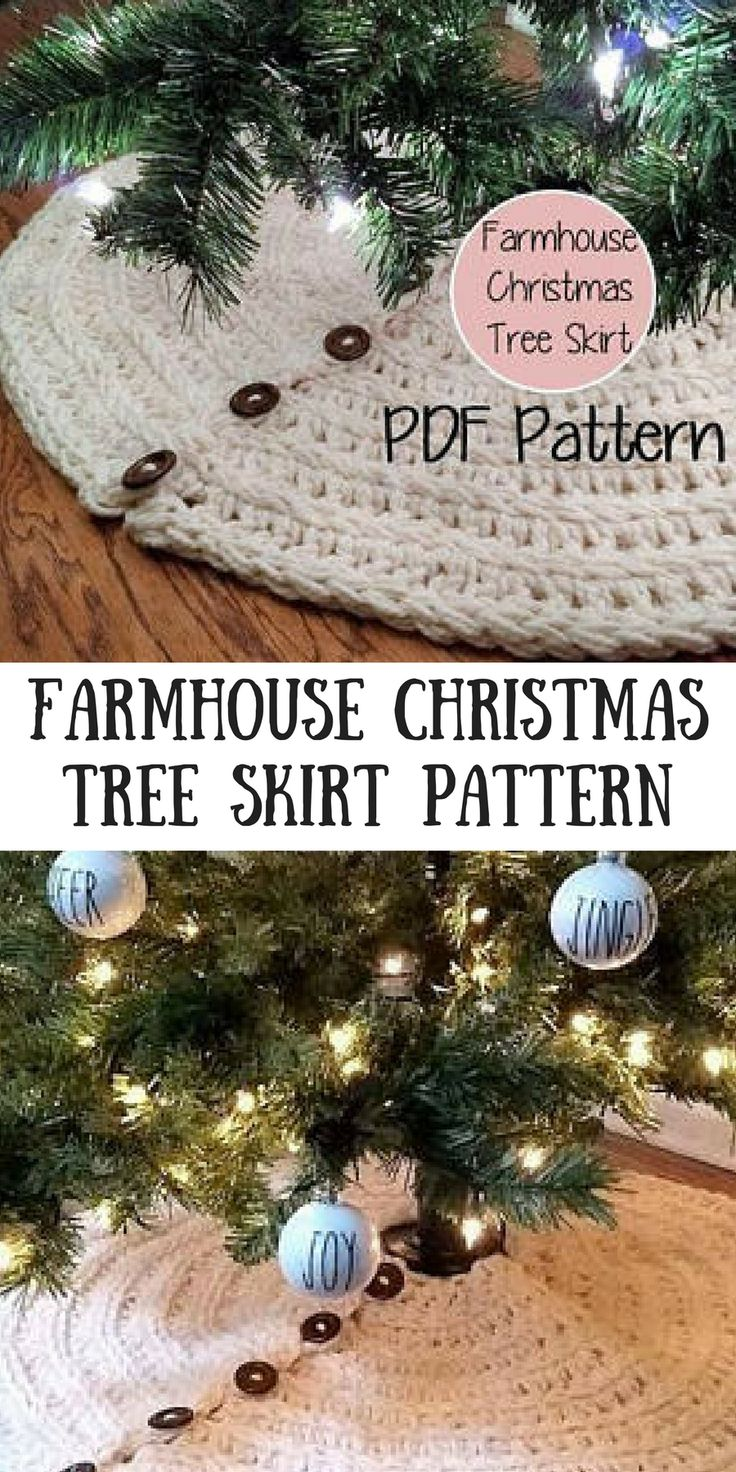 beautiful crochet Christmas tree skirt pattern #crochet #ad #crochetchristmas #christmastreeskirt