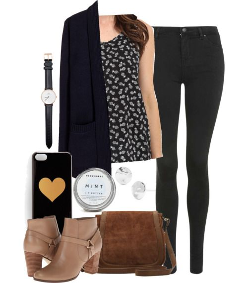 Elena inspired medical school orientation outfit by kit-kat227 featuring a wool cardigan