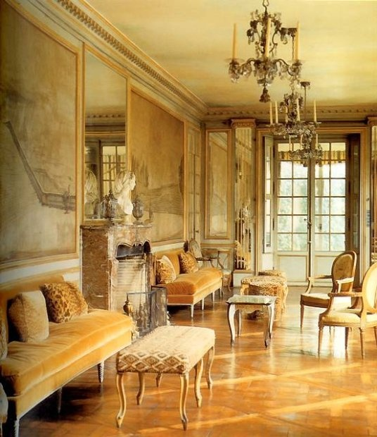 /\ /\ . The Villa Trianon, home of Elsie de Wolfe - first person to be a decorator, first to use leopard print.