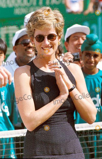 C/n 018537 4-23-1995 Princess Diana at the Salem Tennis Final in Hong Kong Photo By:dave Chancellor-alpha-Globe Photos, Inc