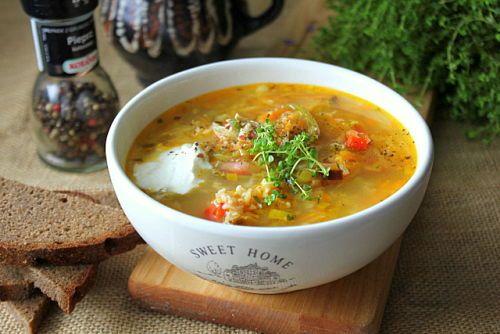 Суп с корневым сельдереем и овсянкой