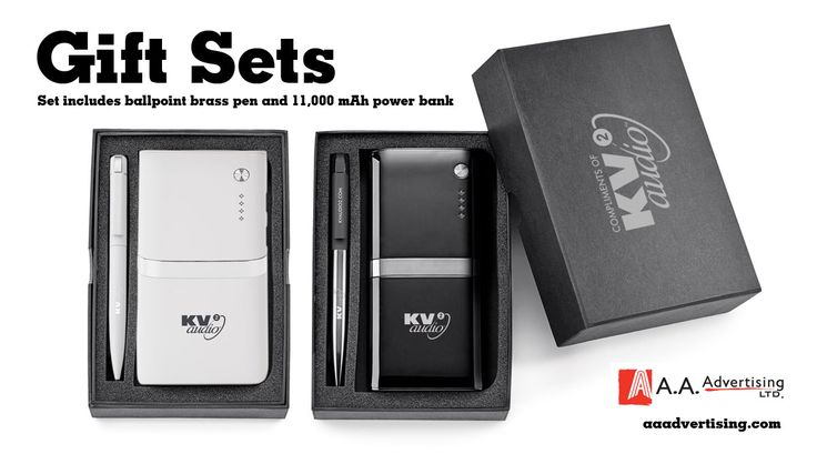 Gift Sets.. includes ballpoint brass pen and 11,000 mAh power bank