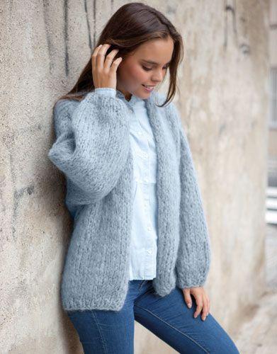 Heft extra 15 Herbst / Winter   494: Damen Jacke   Blaugrau