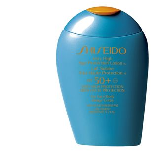 Shiseido Sunscreen, spf 50. Not greasy or heavy, dries instantly, and i swear makes my  makeup last longer and better.