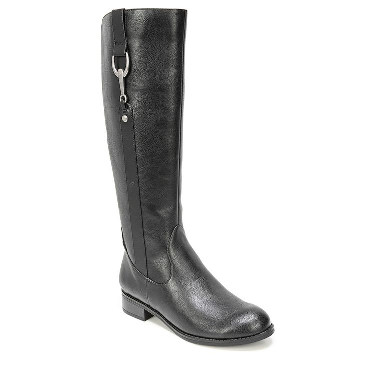 LifeStride Sikora Women's Knee High Riding Boots, Size: medium (8.5), Grey (Charcoal)